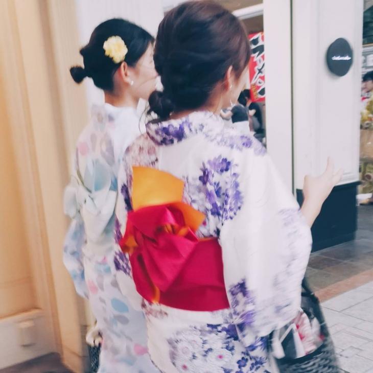 Kimono fashion on the streets of Kyoto Such beautiful dresseshellip