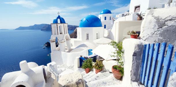 Santorinin saari Kreikassa