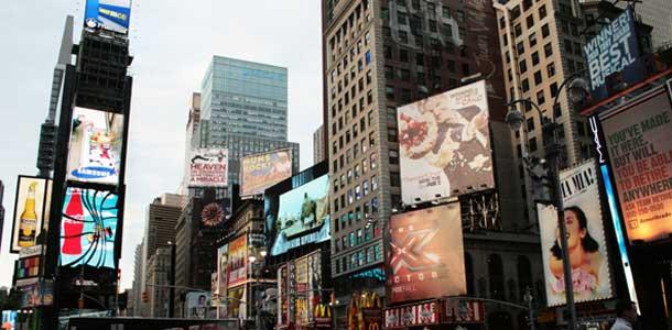 Times Square on New Yorkin suosituimpia paikkoja
