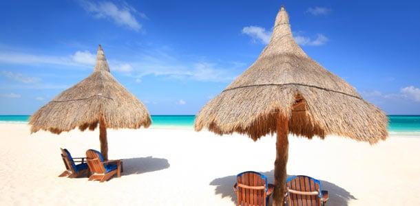 Paratiisirantoja Karibialla