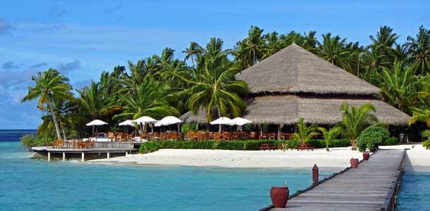 Ylellinen resort Intian Valtamerellä