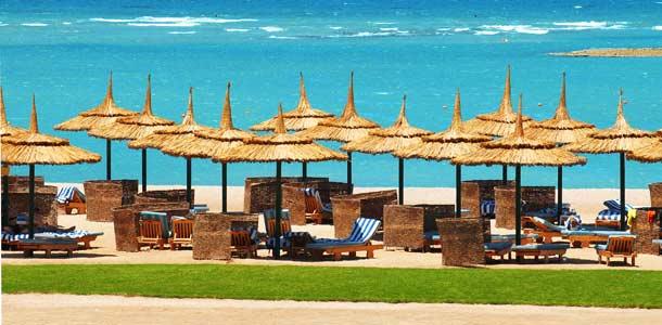 Hiekkaranta Hurghadassa