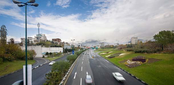 Moottoritie Tehranissa