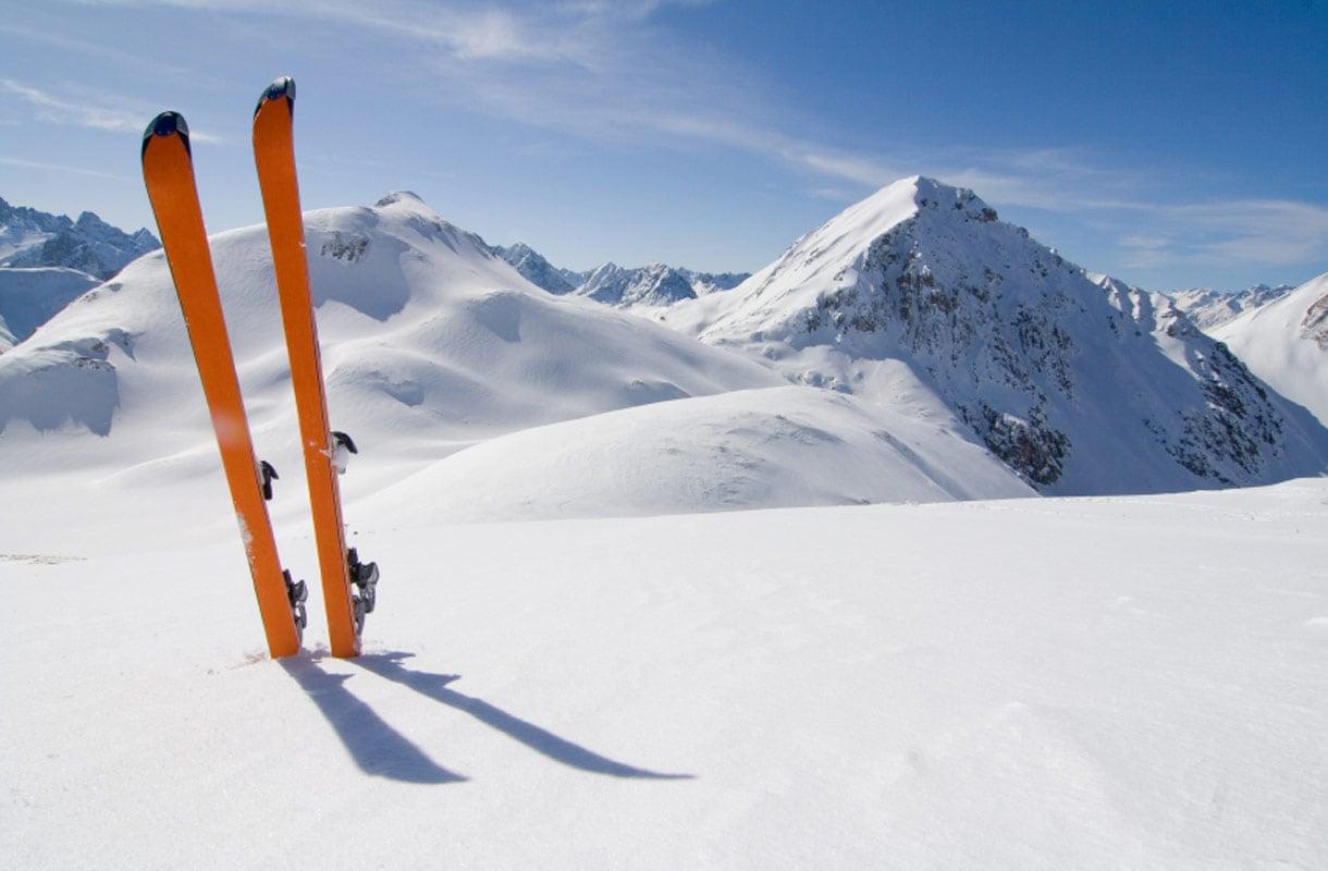Laskettelu Alpeilla