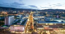 Kaupungin valot Stuttgartissa