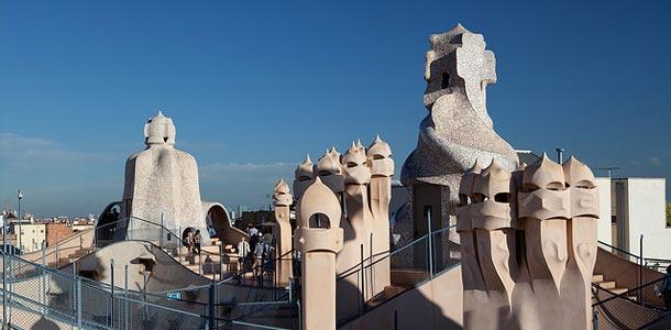 Gaudin arkkitehtuuria Barcelonassa