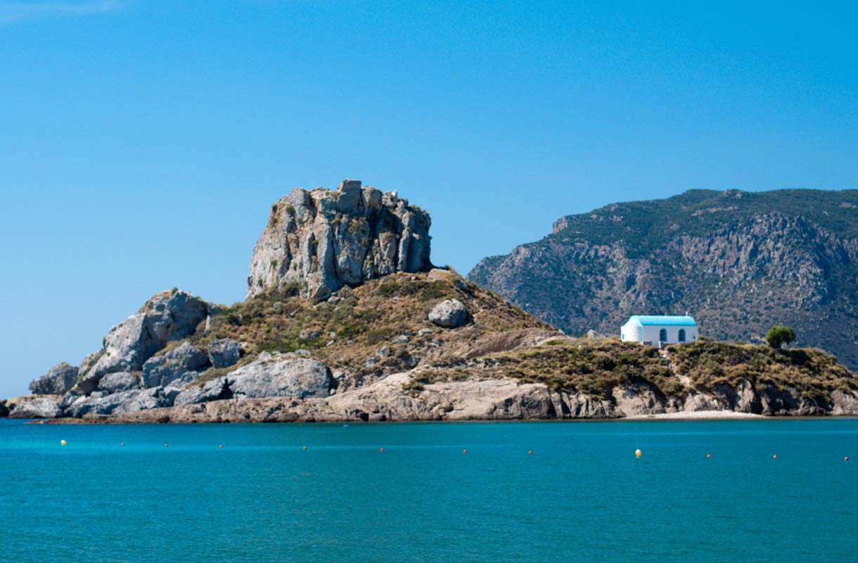 Kreikan Kosilta löytyy myös historiallisia kohteita.