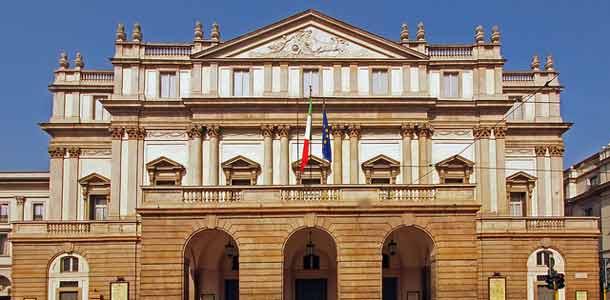 Milanon kuuluisa oopperatalo
