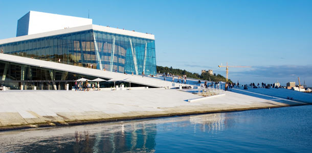 Oslon oopperatalo on kuin jäävuori