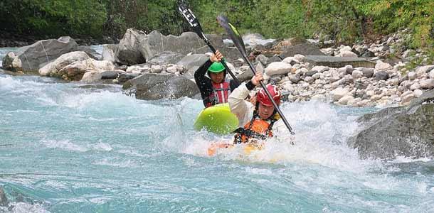 Koskenlasku on yleinen aktiviteetti Sloveniassa