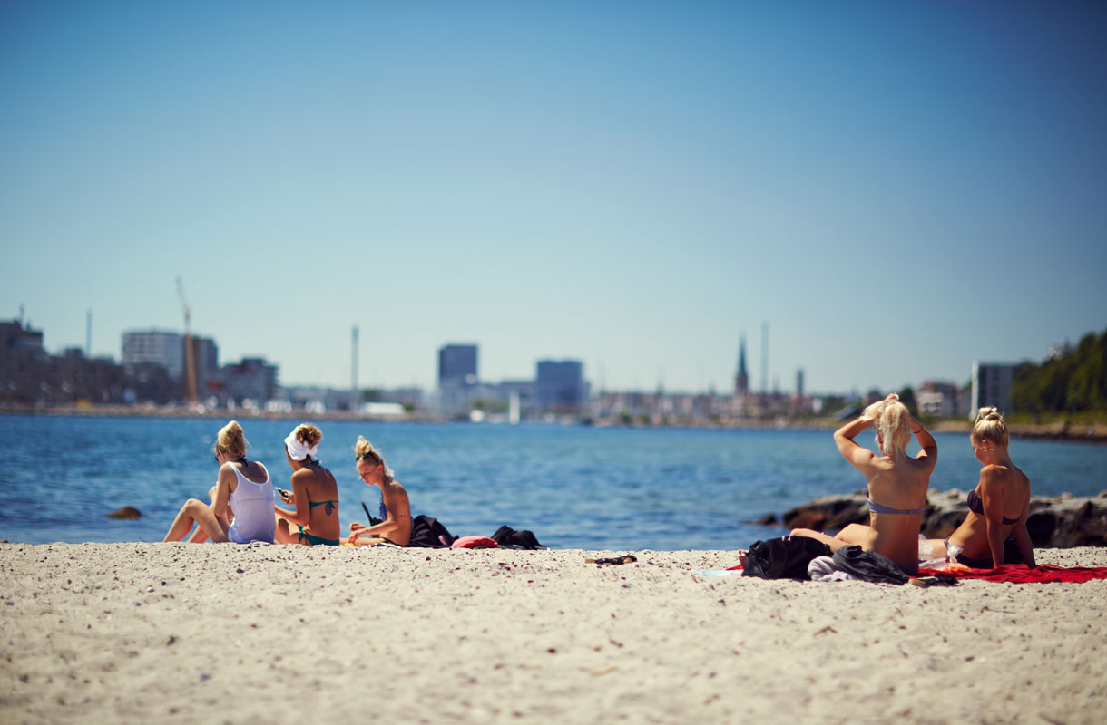 Tanskasta löytyy useita hienohiekkaisia rantoja.