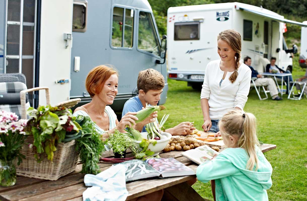Tanskassa pääsee myös leiriytymään.