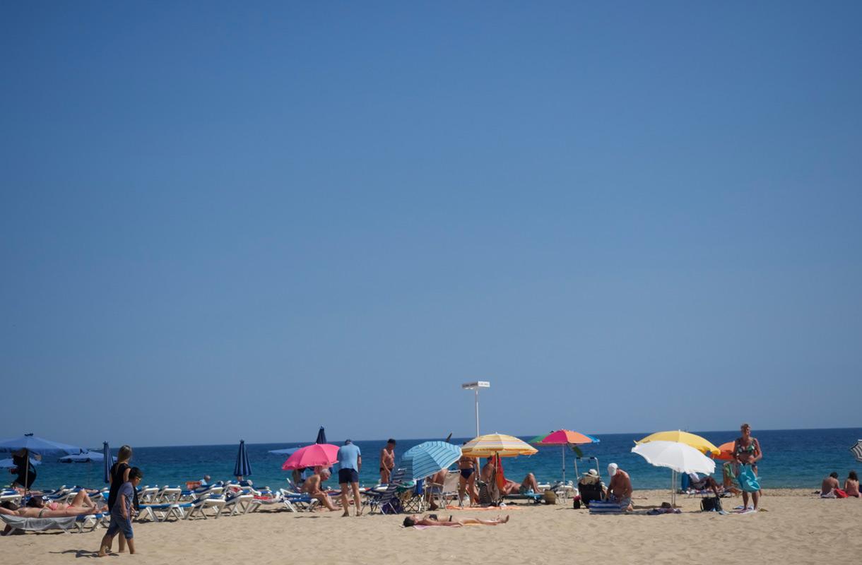 Benidorm on suosittu rantakohde.