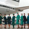 Aer Lingusin henkilökunta lentokentällä