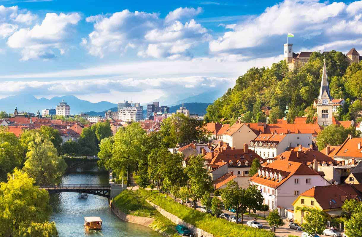 Ljubljana tunnetaan sympaattisena ja kauniina kaupunkina.