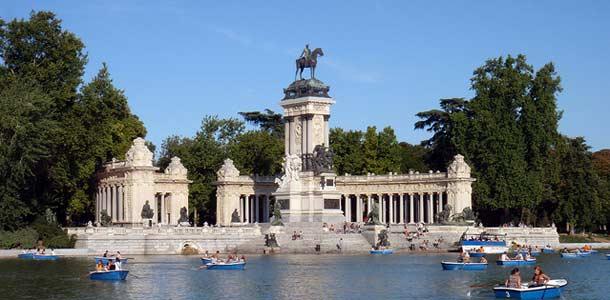 Madridin vehreät puistot