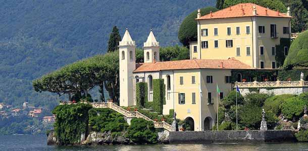 Nähtävyydet Italian Lago di Comolla