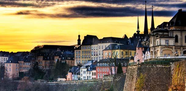 Upea näkymä Luxemburgiin