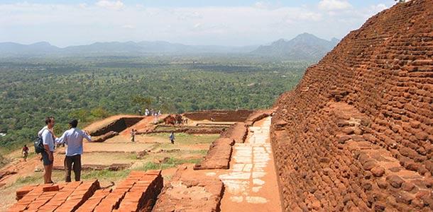 Sri Lankan upeat vihreät maisemat