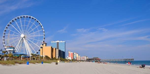 Etelä-Carolinassa on 80km pituinen ranta