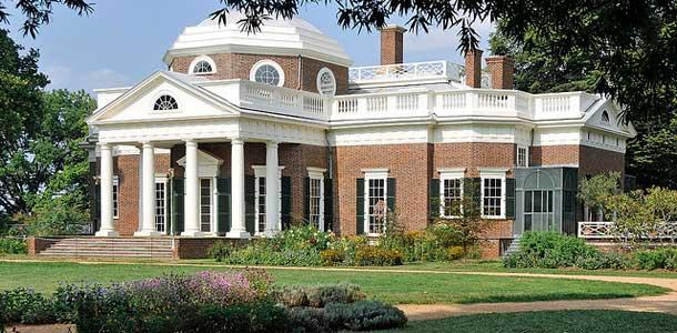Virginiassa kahdeksan presidentin koti