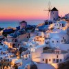 Auringonlasku Santorinissa