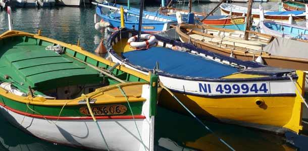 Veneitä Nizzan satamassa