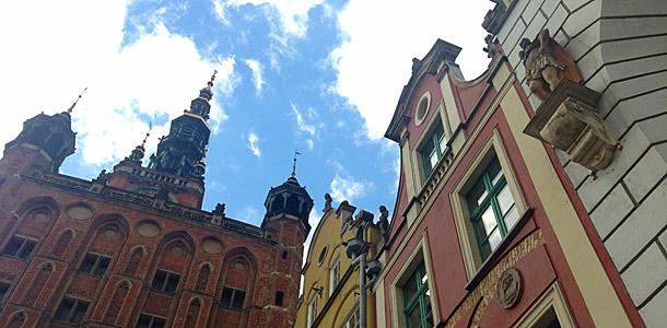 Gdanskin vanhakaupunki on värikäs