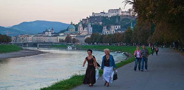 Salzburg on suosittu turistikohde