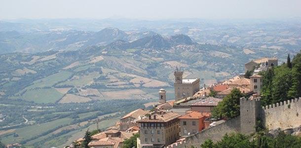 San Marinossa välimeren ilmasto
