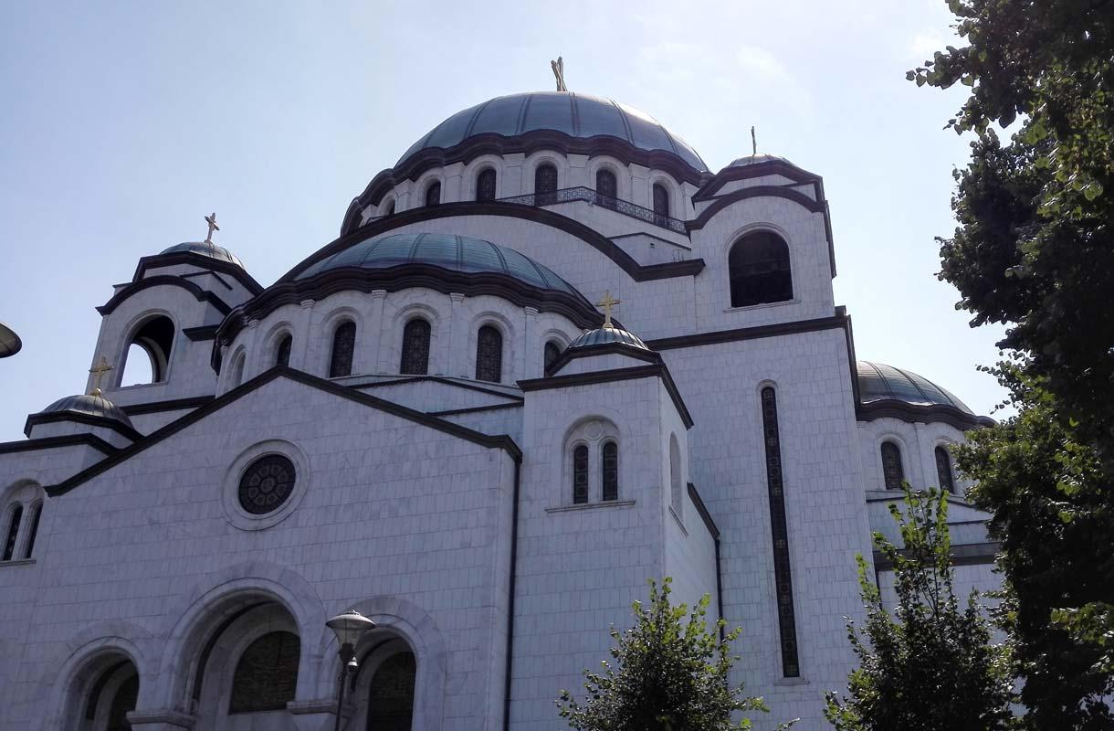 Pyhän Savan katedraali on vaikuttava näky.