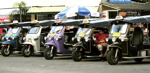 Tuk tukit Pohjois-Thaimaassa
