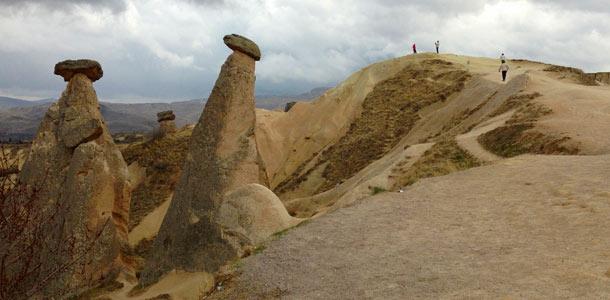 Kivimuodostelmia Turkin Kappadokiassa