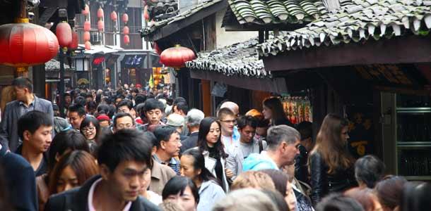 Katuvilinää Chongqingissä