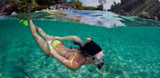 Snorklaaja Thaimaassa