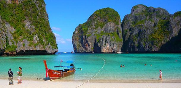 Koh Phi Phin kuuluisa ranta