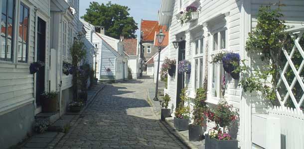 Stavanger on viihtyisä pikkukaupunki