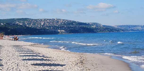 Albenan hiekkaranta Bulgariassa