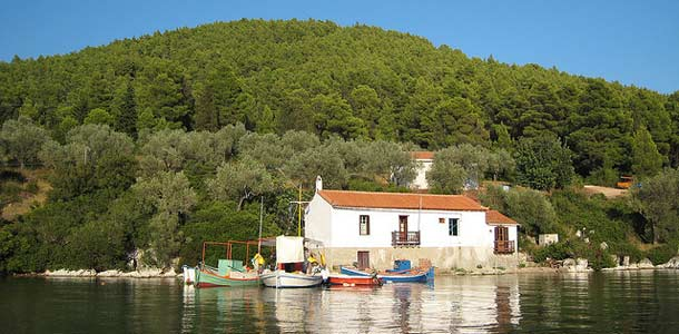 Kreikan vehreä Skopelos