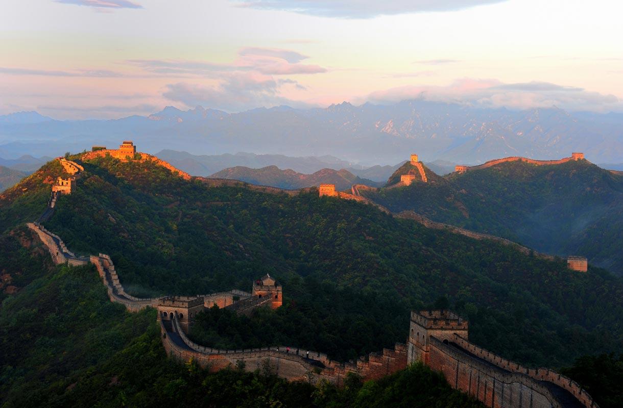 Kiinan muuri on yksi seitsemästä ihmeestä.
