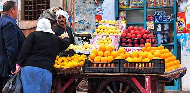 Hedelmäkoju Kairon ostoskadulla