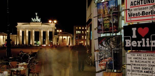 Brandenburgin portti yöllä