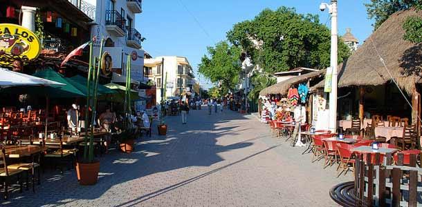 Playa del Carmenin suosittu matkakohde Meksikossa