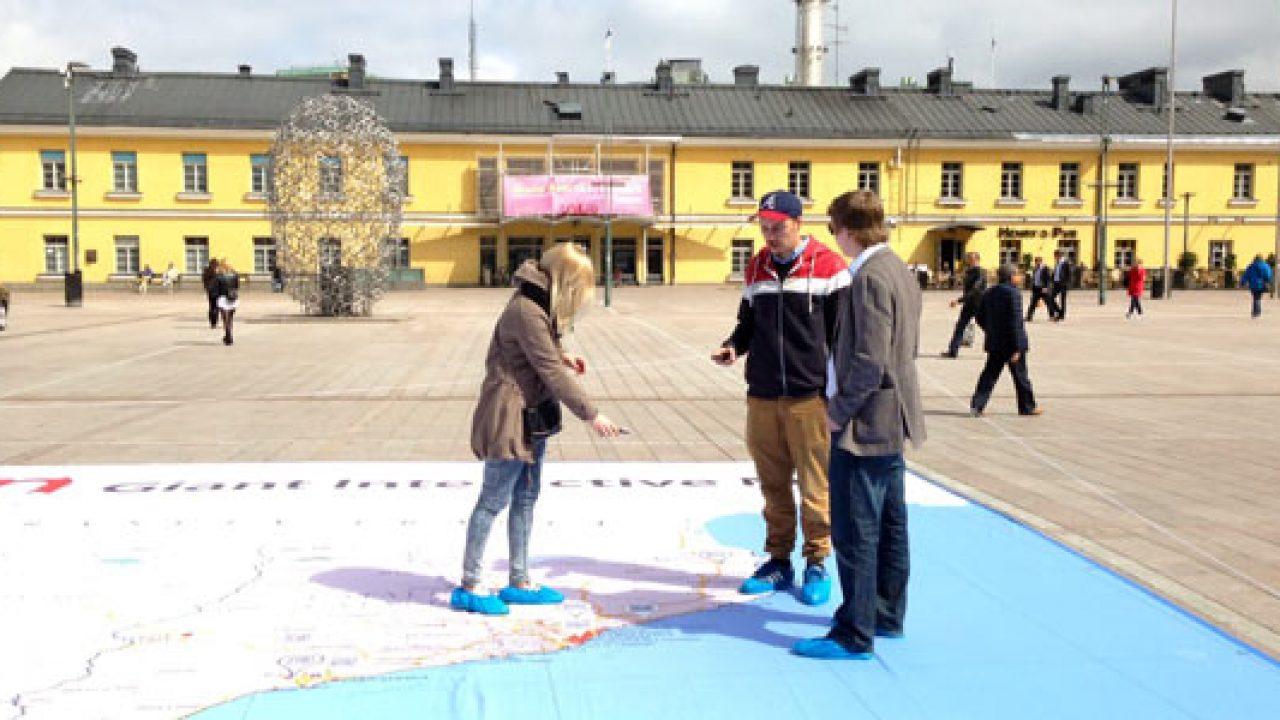 Koko Espanja Levittaytyy Helsinkiin Jattimainen Kartta Kampissa