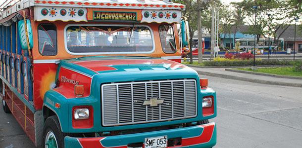 Kolumbian liikenne on värikästä