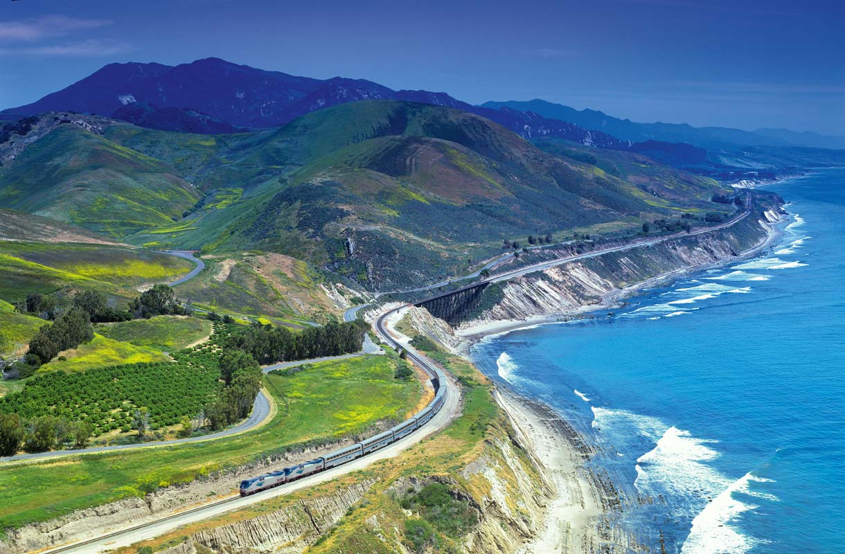 Amtrakin Coast Starlight -juna