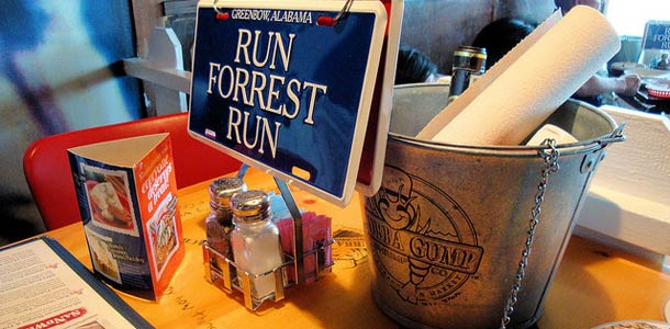Teemaravintola Forrest Gump -elokuvan hengessä