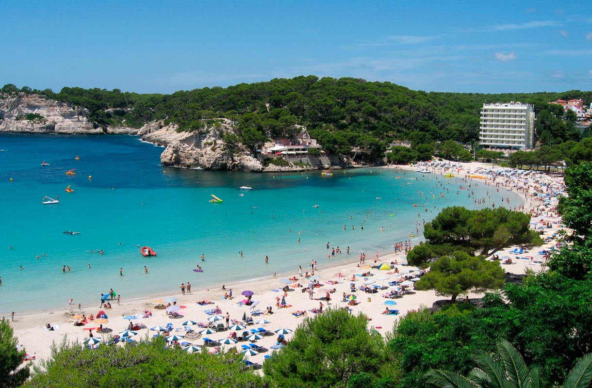 Kokeile Cala Galdanan rantaa Menorcalla