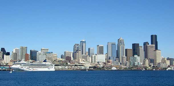 Seattle sijaitsee meren äärellä