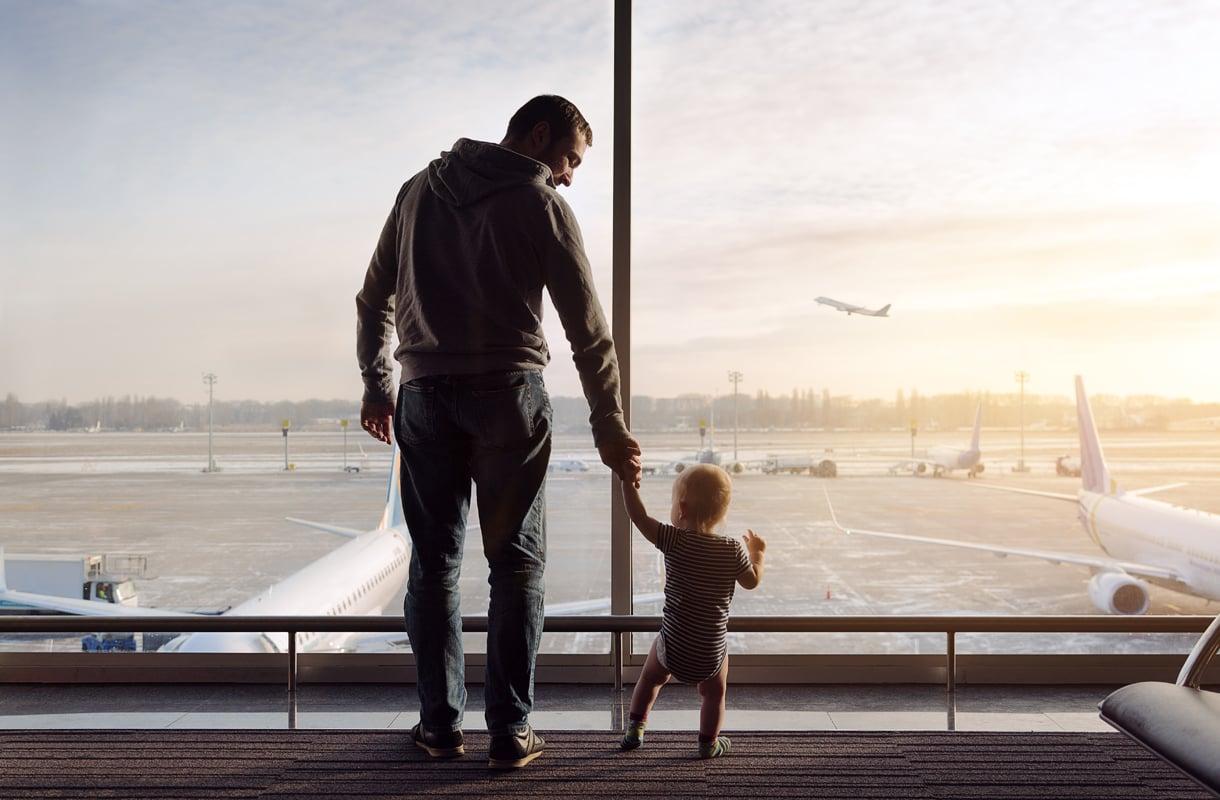 Lentomatka lapsen kanssa